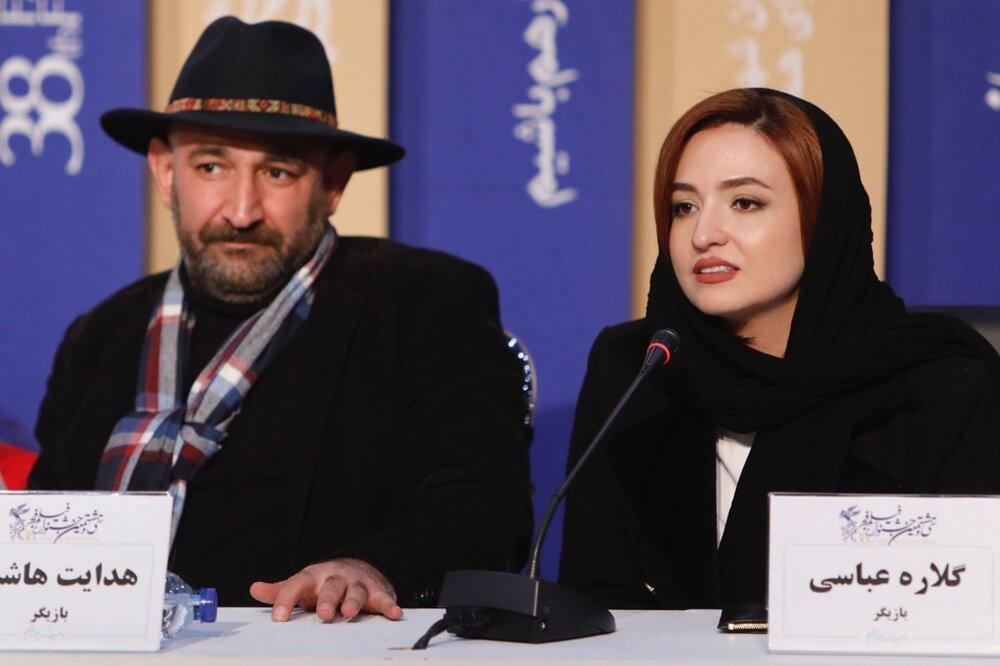 عکس گلاره عباسی و هدایت هاشمی در جشنواره فیلم فجر