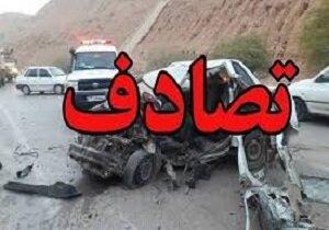 یک کشته و هشت مجروح بر اثر تصادف در جاده پلدختر - خرم آباد