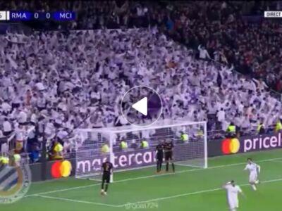 گل اول رئال مادرید به منچسترسیتی توسط ایسکو در دقیقه 60