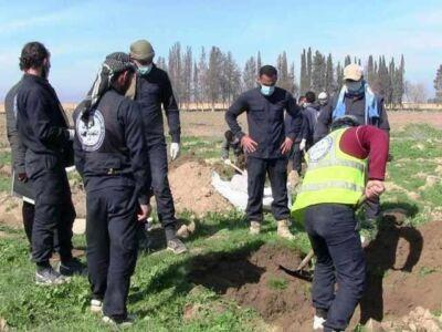 کشف گور جمعی متعلق به جنایات داعش در شمال سوریه با 145 جسد