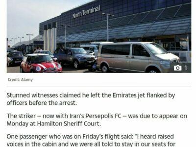 بازداشت آنتونی استوکس در فرودگاه لندن