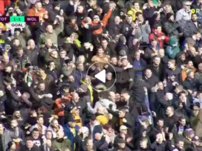گل اول ولورهمپتون به تاتنهام توسط مت دوهرتی
