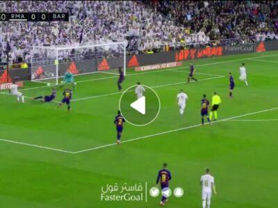 گل اول رئال مادرید به بارسلونا توسط وینیسیوس جونیور
