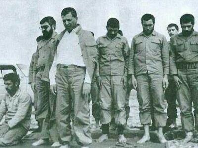 آیت الله هاشمی رفسنجانی و حسن روحانی در لباس نظامی