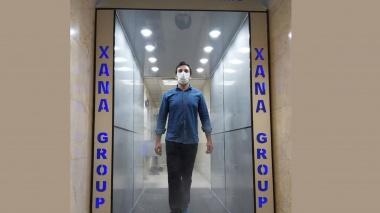 طراحی پیشرفته ترین دروازه ضدعفونی کننده خودکار به دست یزدی ها