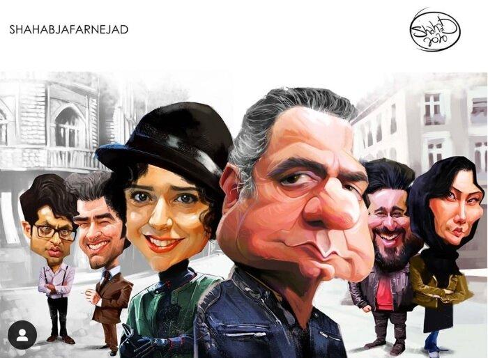 کاریکاتور پرویز پرستویی، هدیه تهرانی و ترانه علیدوستی