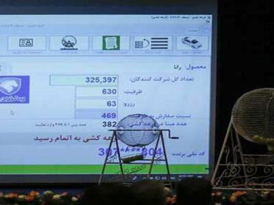 نتایج قرعه کشی پیش فروش ایران خودرو اعلام شد